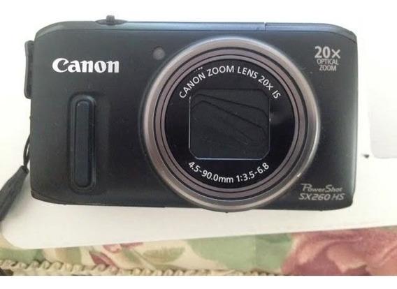 Camera Canon Powershot Sx260 12.1 Mpixels Gps- Frete Gratis