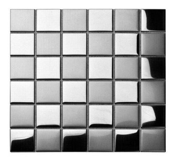 Kit Placa Inox Escovado / Espelhado 30