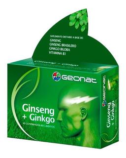 Ginseng + Ginkgo Geonat Suplemento Dietario X 40 Comprimidos