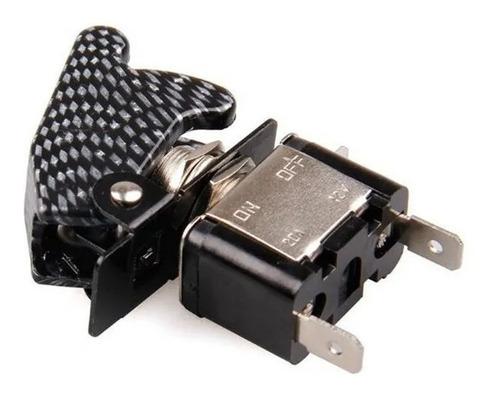 Imagen 1 de 5 de Switch On-off Universal  Negro Tipo Avion Con Luz