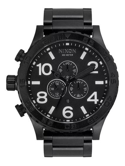 Relógio Gdm2661 Nixon 51 All Black A083 2790 L Com Caixa Top