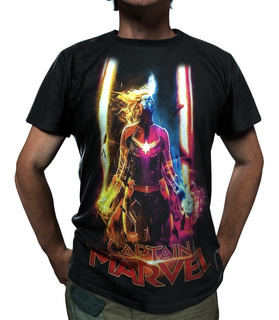 Camiseta Capitã Marvel Carol Danvers Avengers Marvel Ref 028