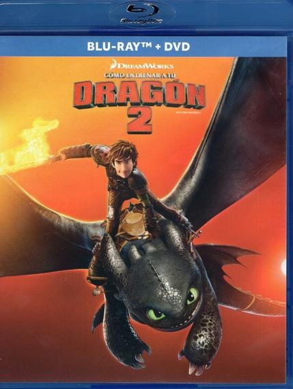 Como Entrenar A Tu Dragon 2 Dos Pelicula Blu-ray + Dvd
