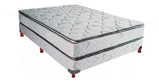 Sommier Y Colchon Acuario 140x190x32cm Doble Pillow Fabrica