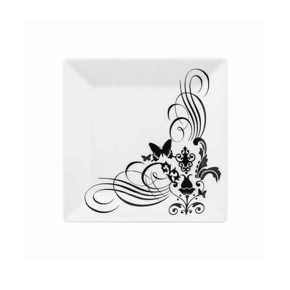Prato Para Sobremesa 20cm Em Porcelana Tattoo Oxford