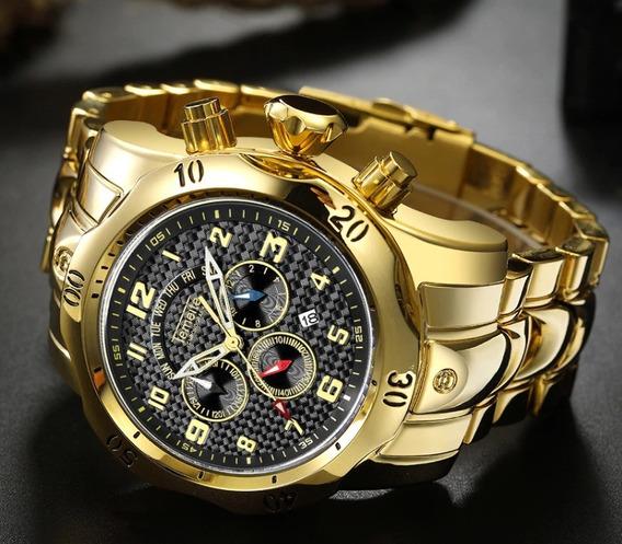 Relógio - Temeite - Dourado - Funcional
