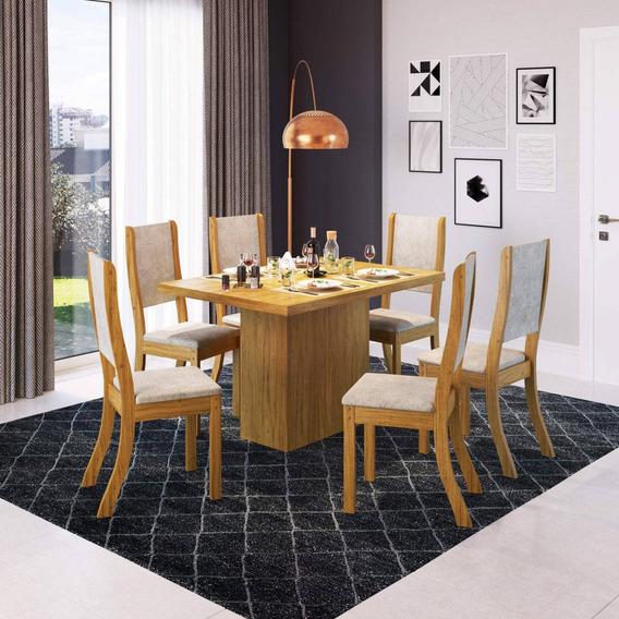 Mesa De Jantar 6 Cadeiras Maya Espresso Móveis Ehwt
