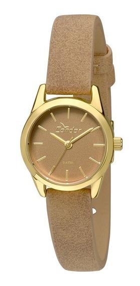 Relógio Condor Feminino Co2035kmz/2m Couro Dourado Oferta