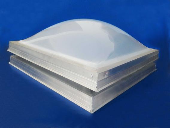 Domo Acrílico De 45cm X 45cm Color Perla Con Ventilación