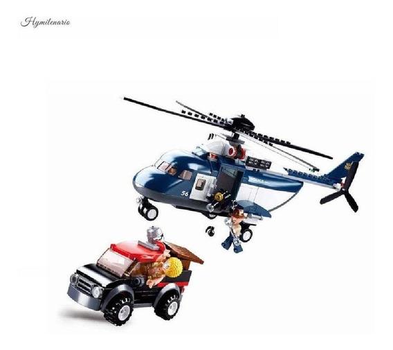 Micro Bloques Persecución En Helicoptero De Policia 285 Pcs