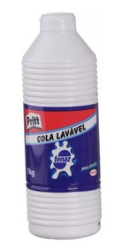 Cola Branca Henkel Tenaz Liquida Escolar Lavável 1kg 06049