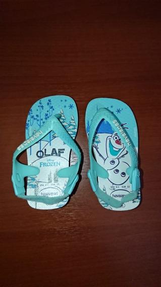 Ojotas Havaianas Niño Modelo Frozen Olaf Talle 20