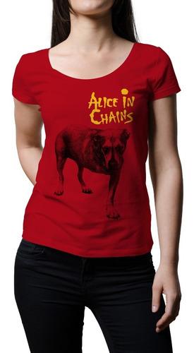 Imagen 1 de 1 de Remera Mujer Rock Alice In Chains   B-side Tees