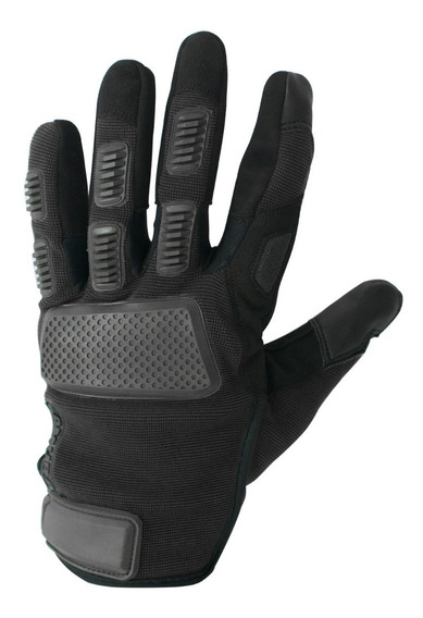 Guantes Moto Samurai Warrior Madrid Cuero Negro Corto To