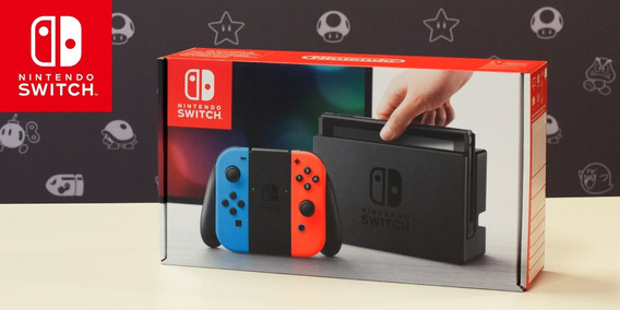 Nintendo Switch 32gb+128gb Sx Pro+jogos Red / Blue