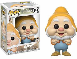 Muñeco Funko Pop Happy Enano Blancanieves Colec Disney Rdf1