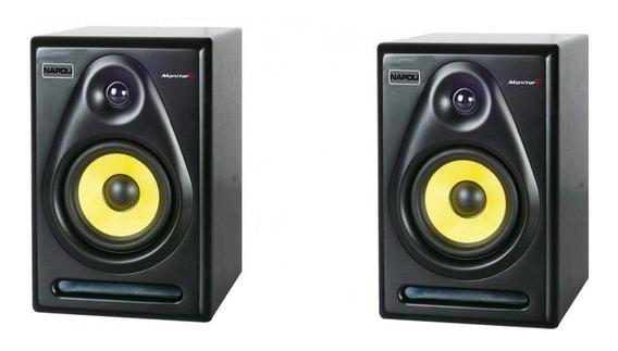 Par Monitor Studio Napoli Rx55 600wts Pico Caixa Amplificada