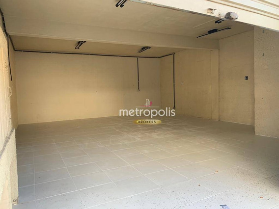 Salão Para Alugar, 78 M² Por R$ 2.000,00/mês - Nova Gerti - São Caetano Do Sul/sp - Sl0120