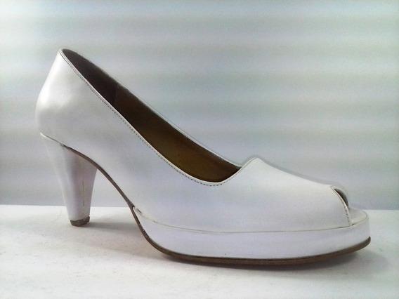 Sam123 Zapatos Taco Fiesta Cuero Oferta 6575 Blanco Pin