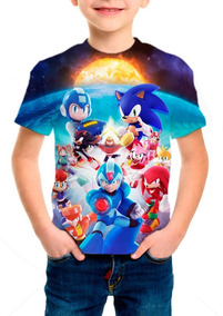 Camiseta Infantil Game Sonic Universe