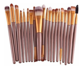 Kit Pincel De Maquiagem 20 Peças Profissional Makeup Pinceis