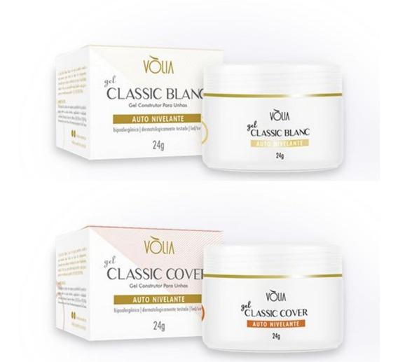 Kit Gel Classic Blanc Vòlia 24g + Classic Cover Vòlia 24g