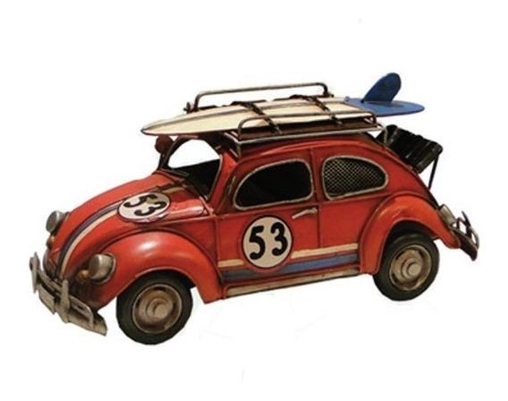 Miniatura Fusca Vermelho Oldway