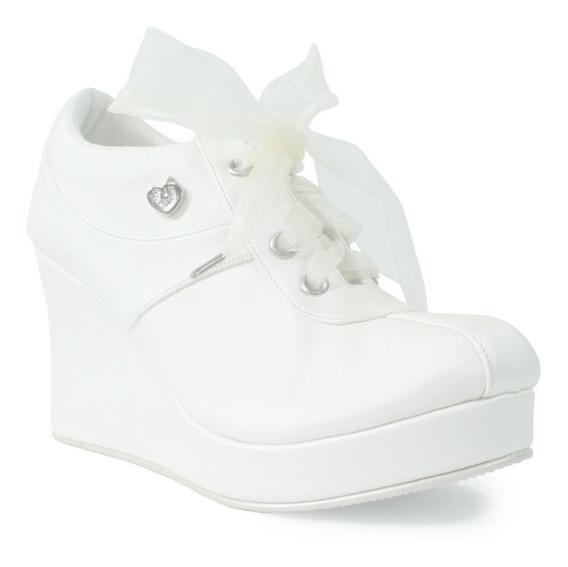 Zapato Para Novia Xv Tipo Tenis
