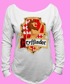 Camiseta Harry Potter Grifinólia Gryffindor Canoa M Longa 01