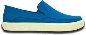 Zapato Crocs Caballero Citilane Roka Slip On Azul