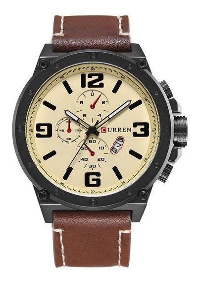 Curren 8230 Negócio Quartz Relógio De Relógio De Pulso Calen