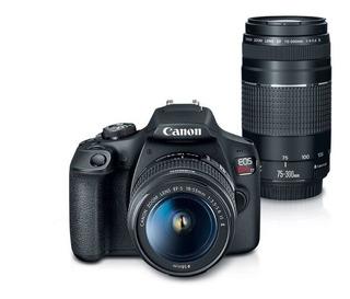 Canon Eos Rebel T7 Kit Con Lentes Ef-s 18-55mm Y Ef 75-300mm