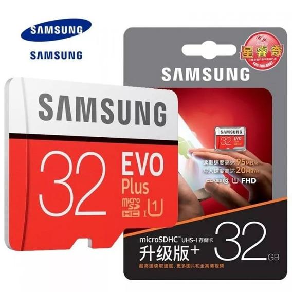 Cartão De Memória Micro Sd 32gb Samsung Evo Plus, Classe 10