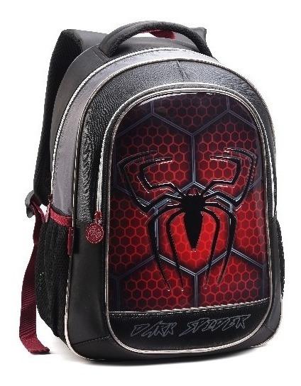 Mochila Infantil Aranha Dark Spider Denlex Dl0624