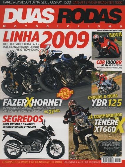 Duas Rodas N°395 Honda Cbr 1000rr Ténéré Xt660 Fazer Hornet