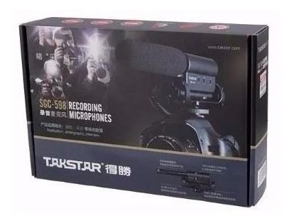 Microfone Takstar Sgc 598 Dslr Canon Nikon