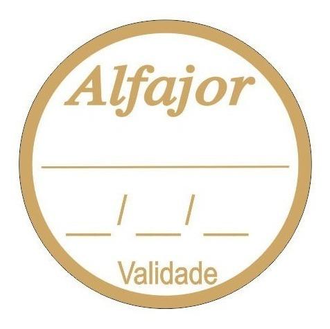 1000 Etiqueta Alfajor Sabor Validade Data Dourada Ou Prata