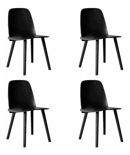 Silla Nerd Pack 4 Unidades Diseño Nórdico Plasticas