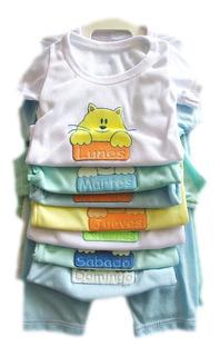 Set Semanario 14 Piezas Para Niño/niña Multicolor 0-3 Meses