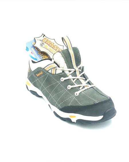 Tenis Timberland Niño Gris Trail Force Piel Tb03575a065