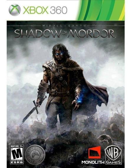 Jogo Shadow Of Mordor Xbox 360 + Filme Dvd Senhor Dos Anéis