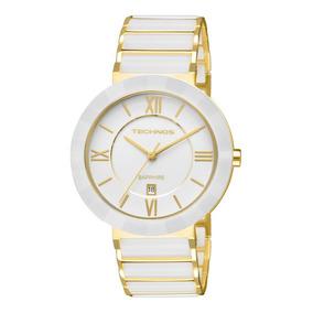 Relógio Technos 2015bv/4b (cerâmica, Branco, Analógico)