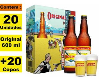 Kit Cervejeiro 20 Original 600ml + 20 Copos C/embalagem