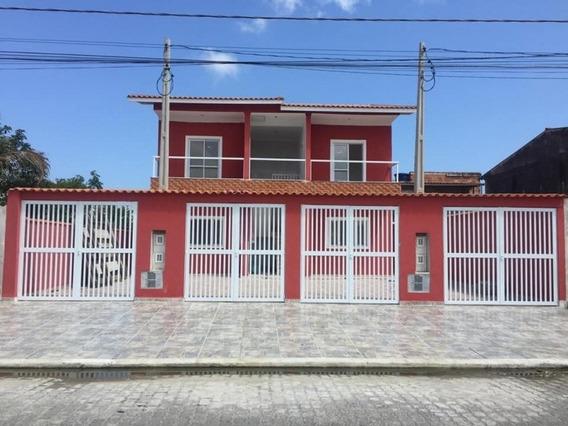 Casa Nova Sobreposta Alta - 2 Dorms - Umuarama - Itanhaém - 954