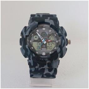 Relógio Masculino Sport Camuflado Estilo G Shock Ga100