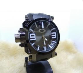 Relógio Masculino De Pulso Oakley Pret Promoção Frete Grátis