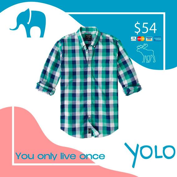 Camisa Abercrombie Talla M Verde