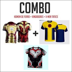 Combo Camisetas Héroi - Hf + Vi +xm Tact
