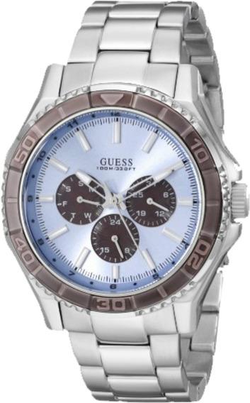 Relógio Masculino Guess 92564g0gsna1y Prateado Original Nfe