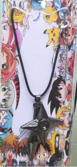 Collar Con Símbolos Metálicos De La Serie Anime Naruto